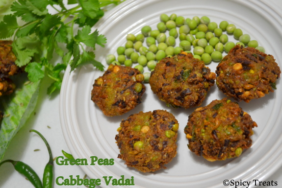 Green Peas Cabbage Vada