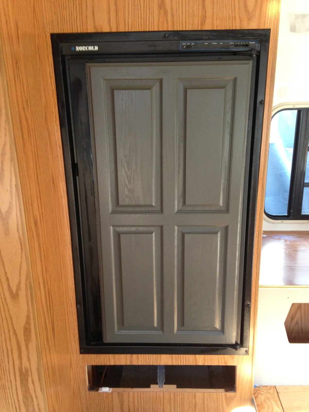 Pine Tree Home Camper Painting Fake Oak Panels And