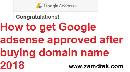 How to get Google adsense stops showing after buying domain name approved 2018