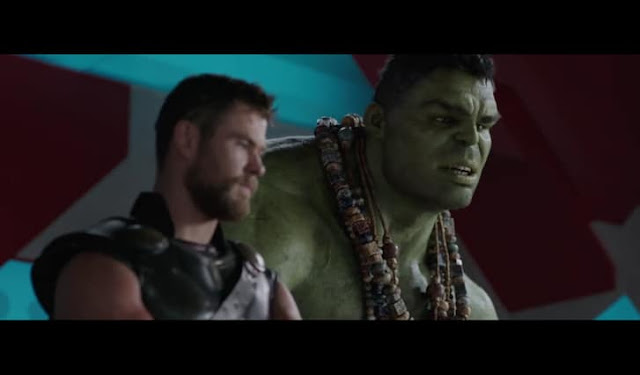 Hulk and Thor talking to each other