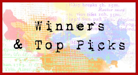 FEBRUARY CHALLENGES & BLOG HOPS WINNERS & TOP PICKS