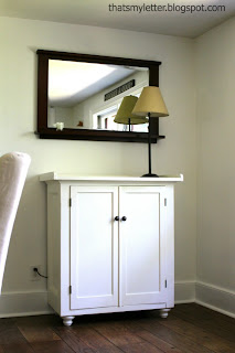 storage sideboard with mirror