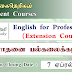 English for Professionals (Extension Course) - பேராதனை பல்கலைக்கழகம்