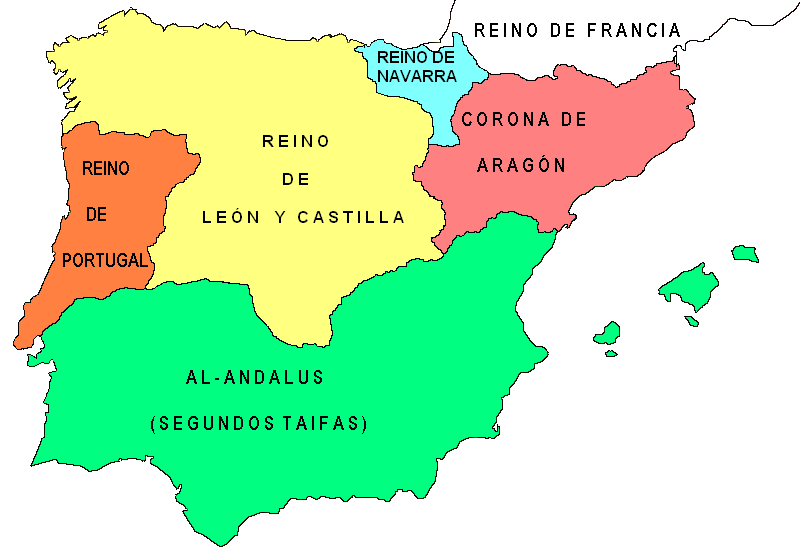 Mapa España Siglo Xv.Blog De Sociales Para El Alumnado De 1º Y 2º Eso Tema 5