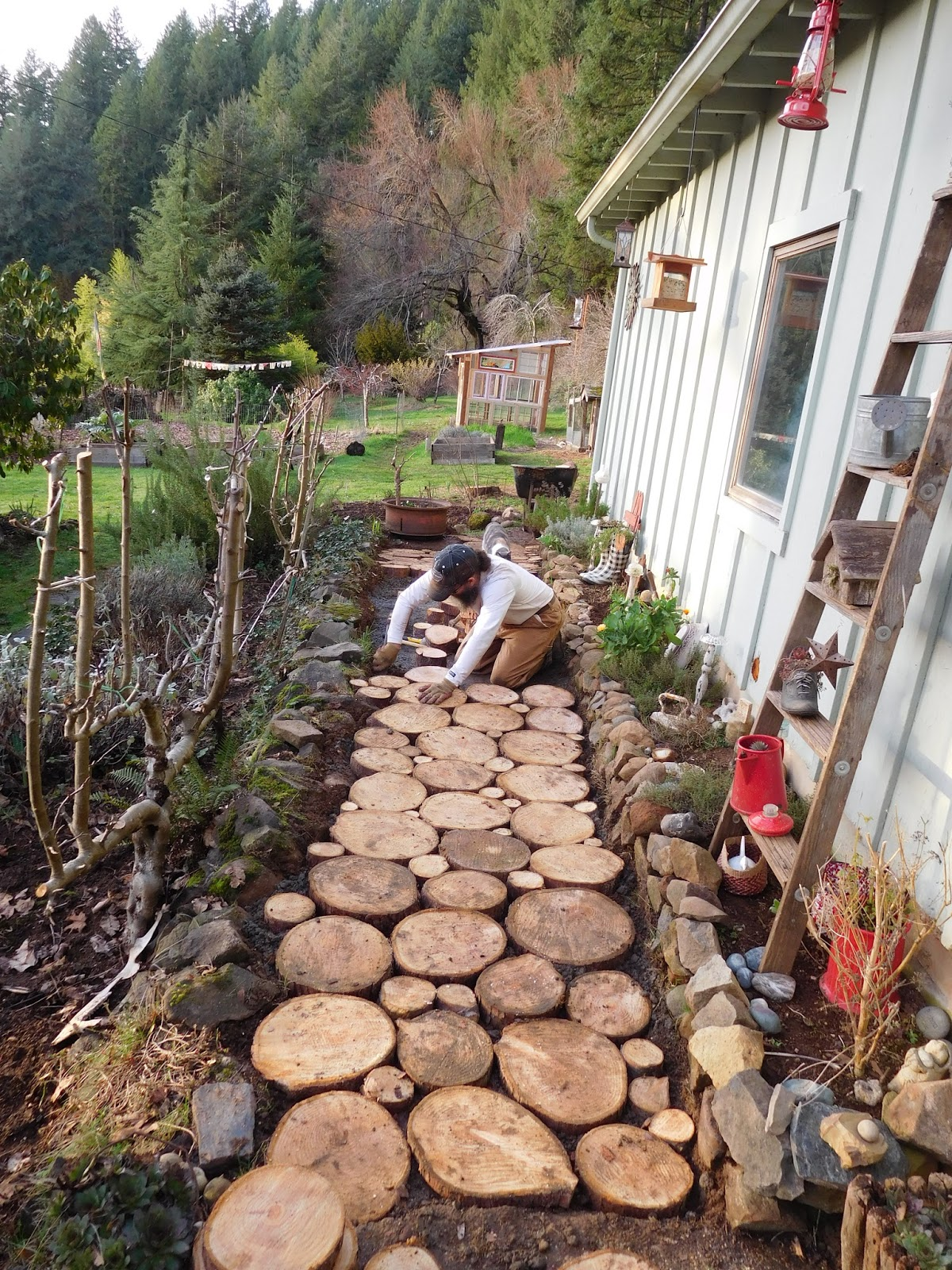Building A Cordwood Path A Mountain Hearth