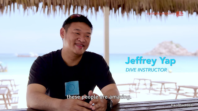 Jeffrey Yap - One of the dive instructor who participated in this charity act