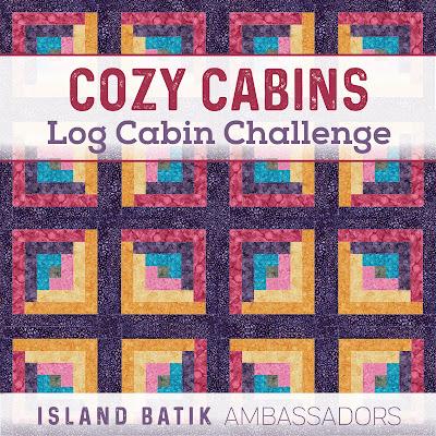 Island Batik Log Cabin challenge