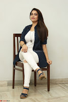 Manjusha in White Tight T Shirt and Black Jacket ~  Exclusive Celebrities Galleries 026.JPG