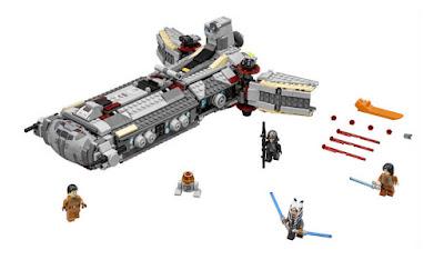 TOYS : JUGUETES - LEGO Star Wars  75158 Fragata de Combate Rebelde  Rebel Combat Frigate  Producto Oficial 2016 | Edad: 9-14 años | Piezas: 936  Comprar en Amazon España & buy Amazon USA