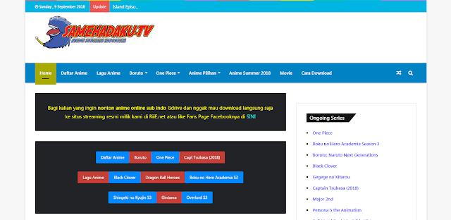 Kumpulan daftar situs atau website streaming dan download anime subtitle indonesia paling terbaik