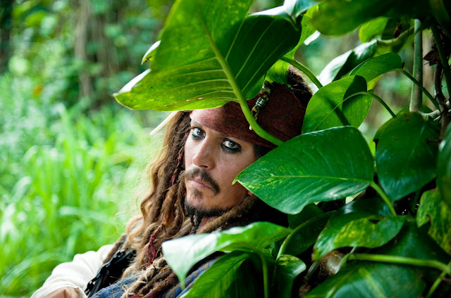 'Pirates of the Caribbean: On Stranger Tides' (2011). Johnny Depp returns in the fourth Pirates film from Disney. All text © Rissi JC