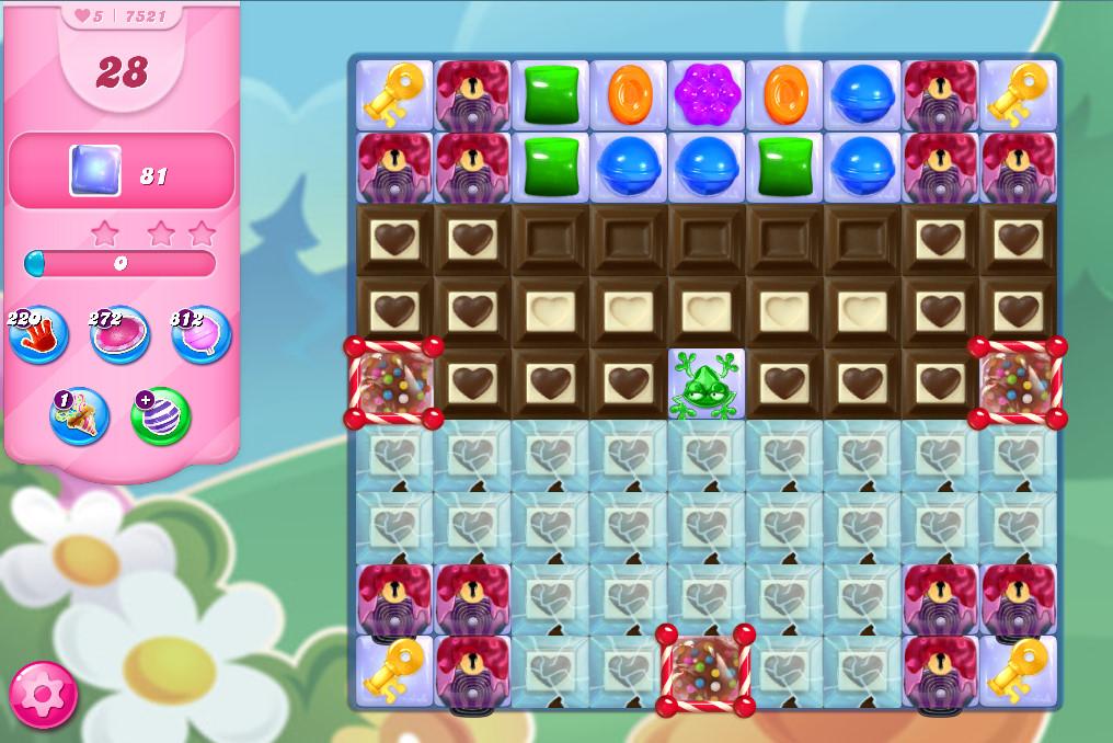 Candy Crush Saga level 7521