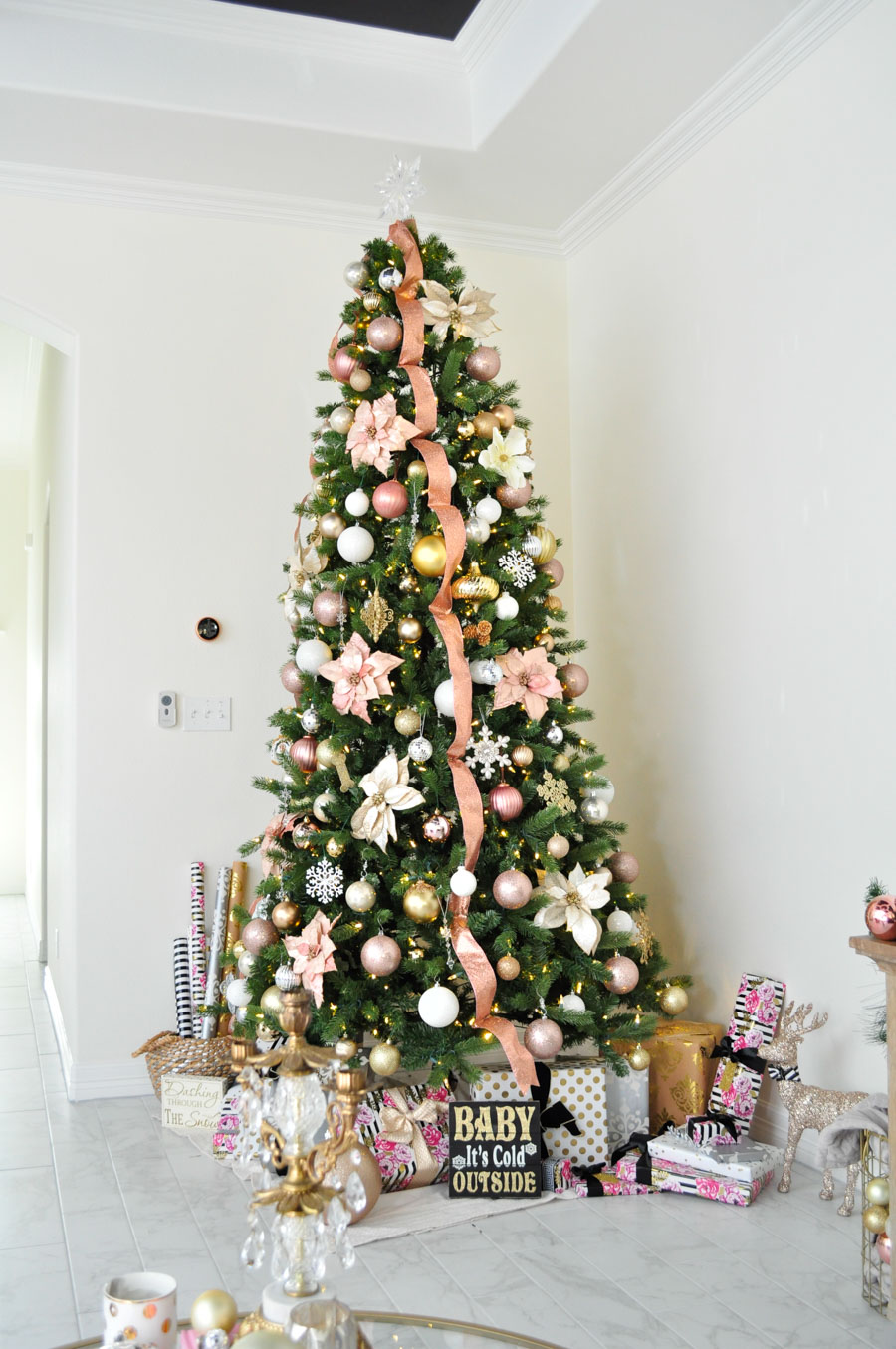 Assorted Blush Pink Christmas Decor Kimkstyledwithlace Beautiful