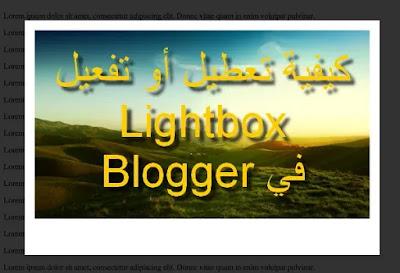 تعطيل خاصية Lightbox على بلوجر