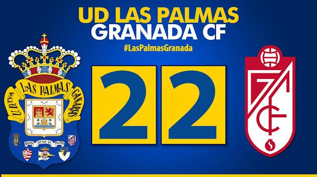 Marcador final UD Las Palmas 2-2 Granada CF
