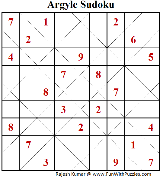 Argyle Sudoku (Puzzles for Adults #152)