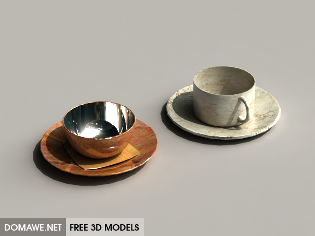 DOMAWE net: Teacup 1 - Free 3D Models