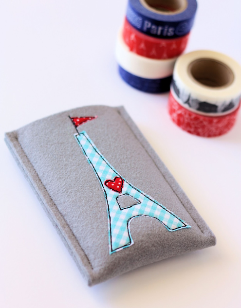 Eiffel tower phone case, free tutorial (photo: a spoonful of sugar)   Happy in Red