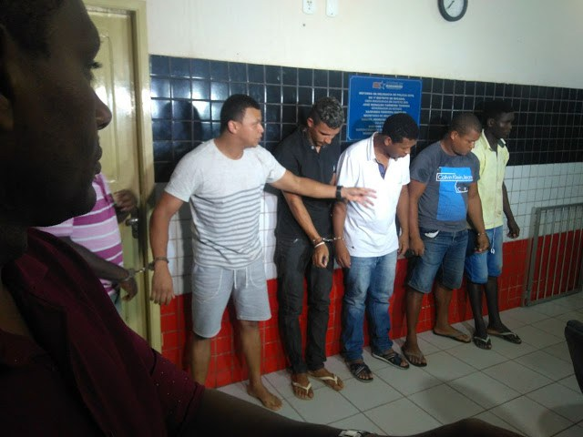 Bandidos presos - Explosão de carro forte em Caxuxa, Alto Alegre-MA