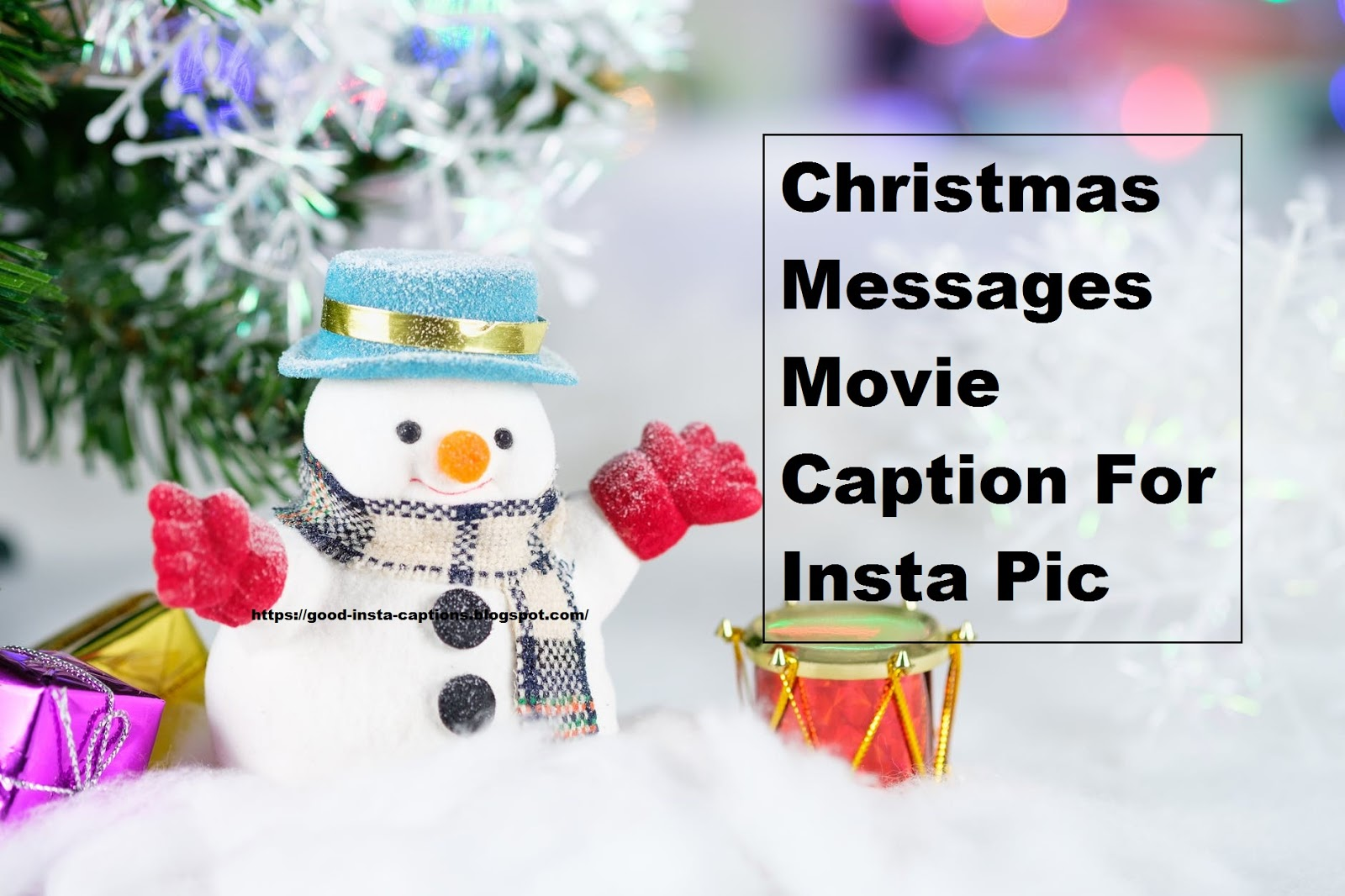 Christmas Messages Movie Caption For Insta Pic