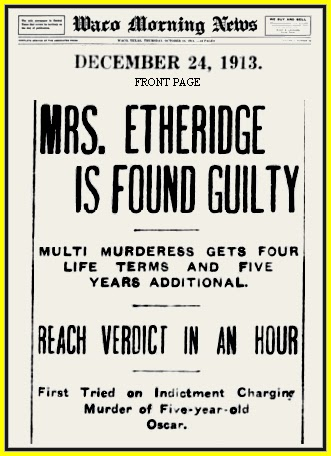 Unknown Gender History: Ellen Etheridge, Texas Serial Killer