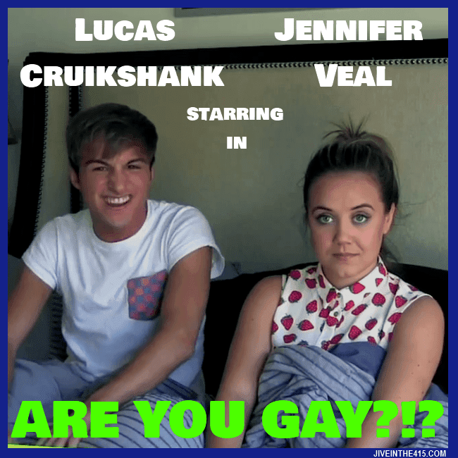 "TV stars Lucas Cruikshank and Jennifer Veal are starring in the YouTube video ""Are You Gay?!?"""