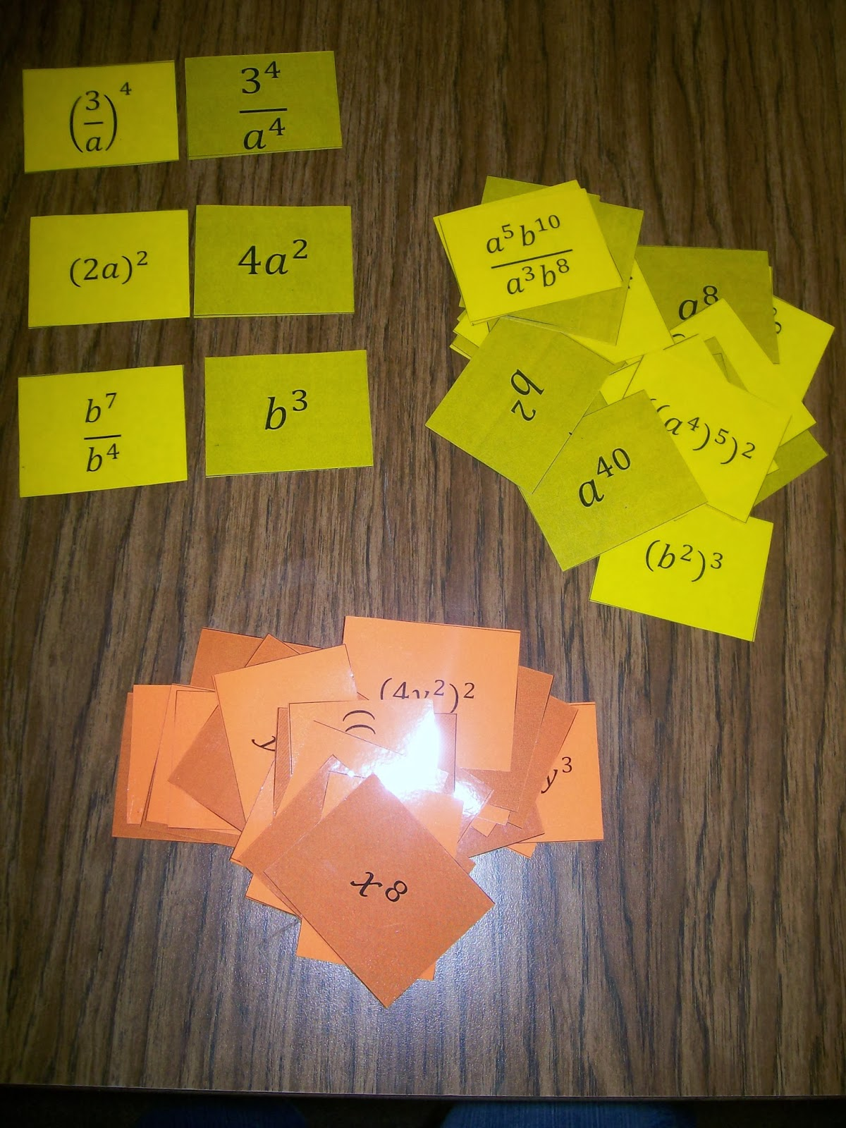 worksheet Unit 7 Exponent Rules Worksheet 2 math love ms hagans book of exponent rules karuta cards