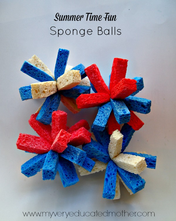 Sponge balls are the snow balls of summer! A great activity to cool off and have fun with the kids.