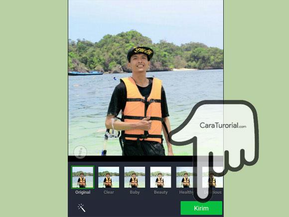 Mengatur efek tampilan foto profil LINE