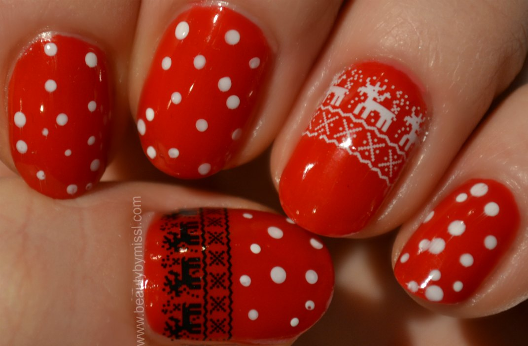 winter manicure, Christmas manicure