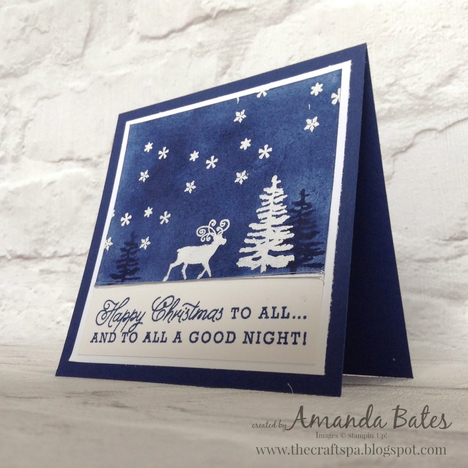 The craft spa stampin up uk independent demonstrator order greetings from santa scene m4hsunfo