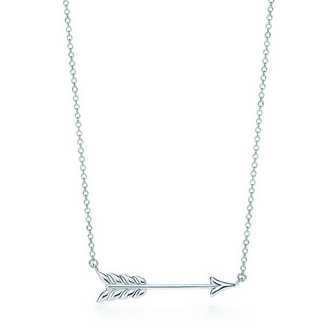 Silver Tiffany Arrow Necklace