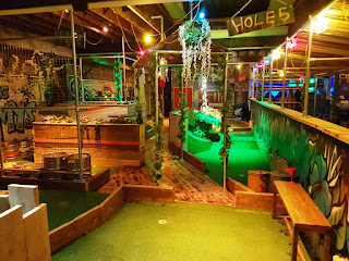 The Crazy Golf course at Roxy Ball Room in Manchester