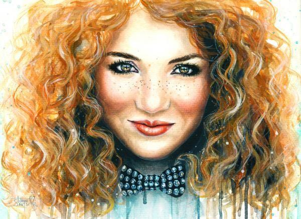 Retrato mujer pelirroja