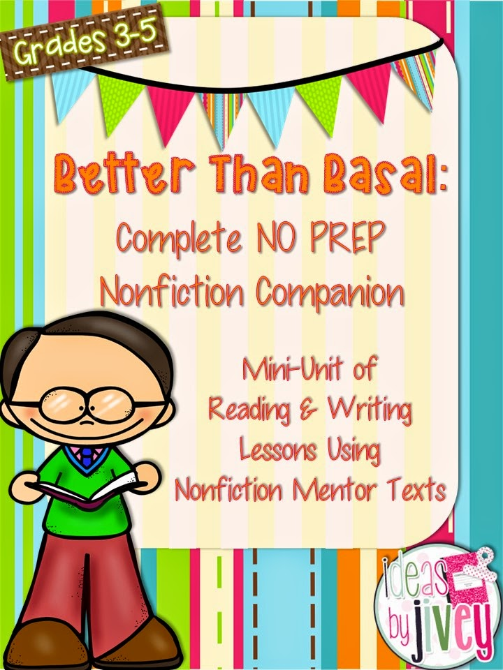 Freebie Complete No Prep Mini Unit Lessons Using Mentor Texts with Ideas by Jivey
