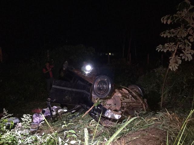 Bebê de quatro meses morre depois de carro capotar em Pimenta Bueno