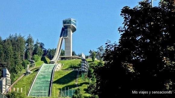 Trampolín de saltos de Bergisel, Innsbruck, Tirol, Austria