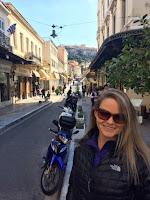 Walking around Athens, Greece