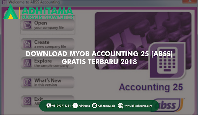 Download Gratis MYOB Accounting v.25 Terbaru 2018