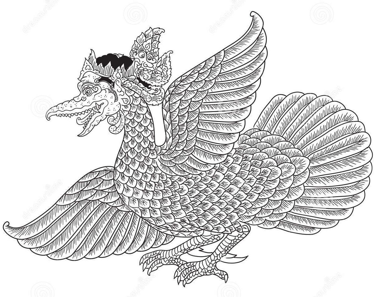 Kumpulan Mewarnai Gambar Burung Garuda Download