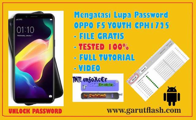 Reset Password dan Pola OPPO F5 Youth CPH1725 Berhasil GRATIS