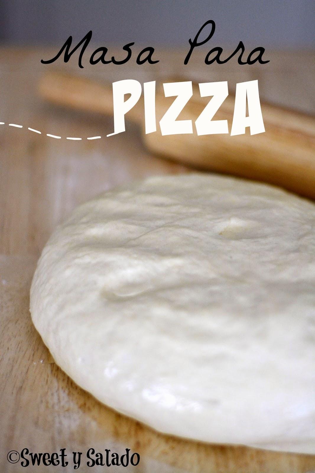 hacer masa de pizza con harina con levadura