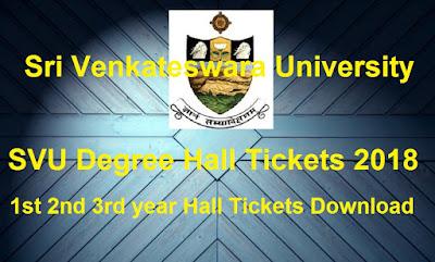 Manabadi SVU Degree Hall Tickets 2018 Download, Schools9 SVU UG Hall Tickets 2018