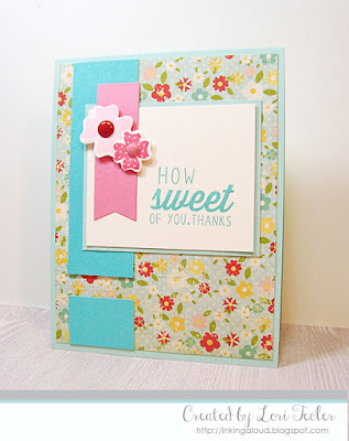 How Sweet of You card-designed by Lori Tecler/Inking Aloud-stamps and dies from Reverse Confetti