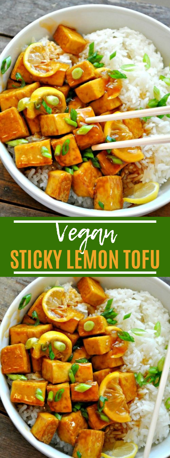 Sticky Lemon Tofu #sidedish #vegetarian