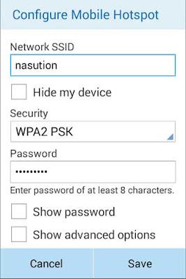 menjadikan HP android sebagai WiFi Hotspot