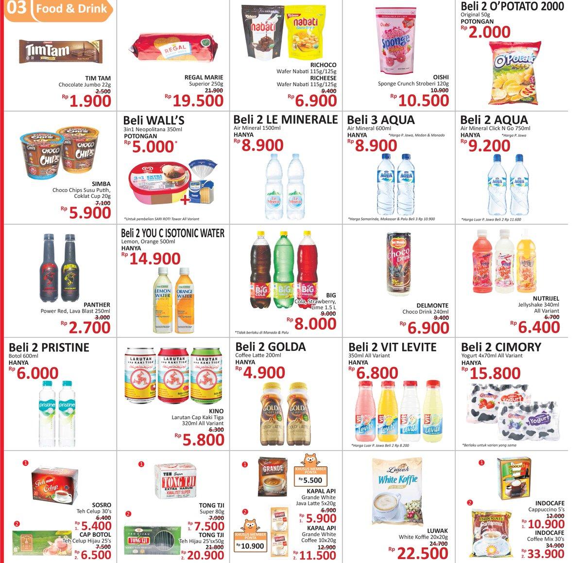 Alfamidi - Promo Harga Spesial Food & Drink (s.d 15 Okt 2018)