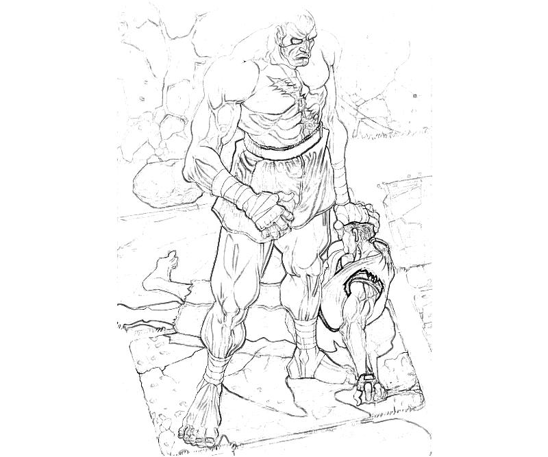 street fighter coloring pages - photo#18