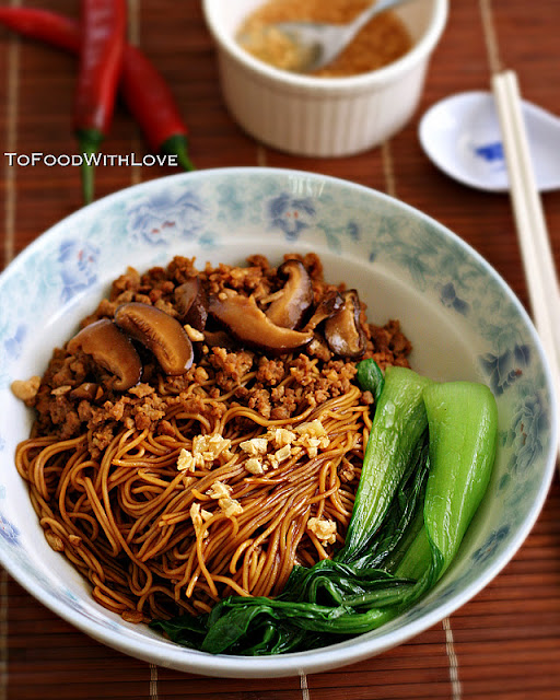 To Food With Love: Egg Noodles With Pork And Mushroom