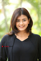 Actress Hebah Patel Stills in Black Mini Dress at Angel Movie Teaser Launch  0117.JPG